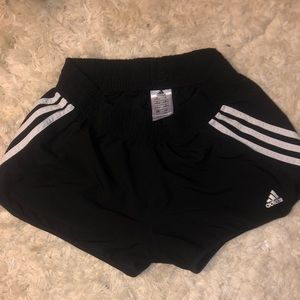 Black adidas athletic shorts